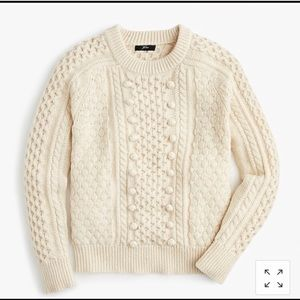 JCREW CABLE KNIT CREAM SWEATER